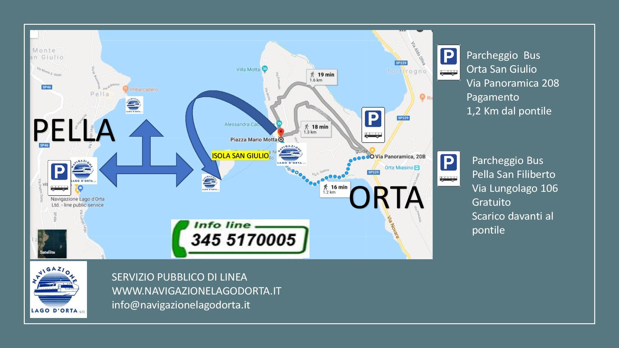 parcheggio pullman Orta San Giulio